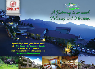 Make yourself available for Life's surprises @ DevonshireGreens Munnar...Enjoy 30% OFF on your Early bookings..☺
