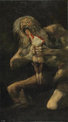 História: Pintura de Francisco Goya, Cronos devorando seus filhos