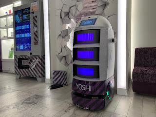 YOTEL's autonomous robot named Yoshi