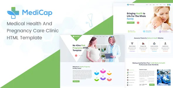 Best Medical Health & Pregnancy Care Clinic HTML Template