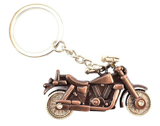 Royal-Bullet-Bike-Keychains-Keyrings-Bronze