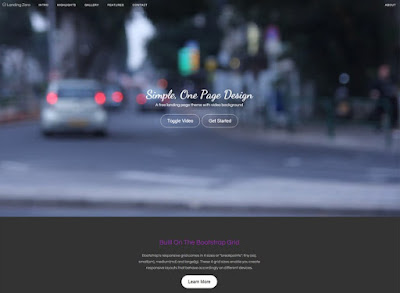 Landing Zero: Free Bootstrap Landing Page Template