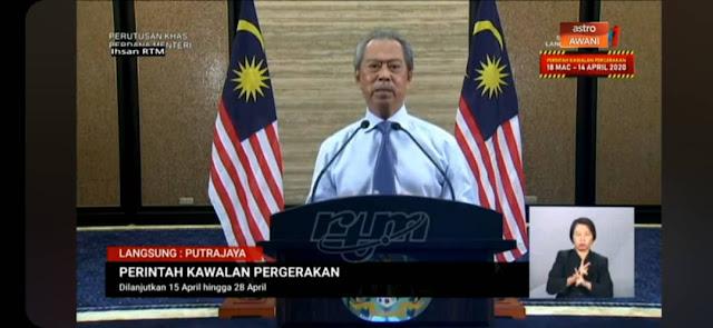 COVID-19: Perintah Kawalan Pergerakan (PKP) Dilanjutkan Sehingga 28 April 2020