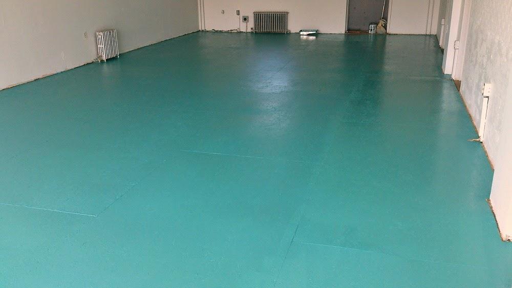 Teal Painted Flooring