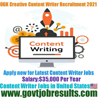 OGK Creative Content Writer Recruitment 2021-22