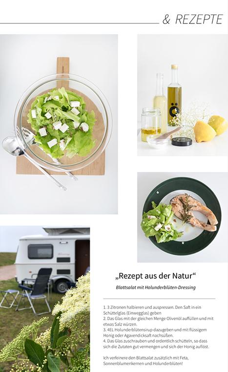 Rezept für Holunderblütendressing für Salat - Das Rezept findest du im MINIMALmagazin - Klick!