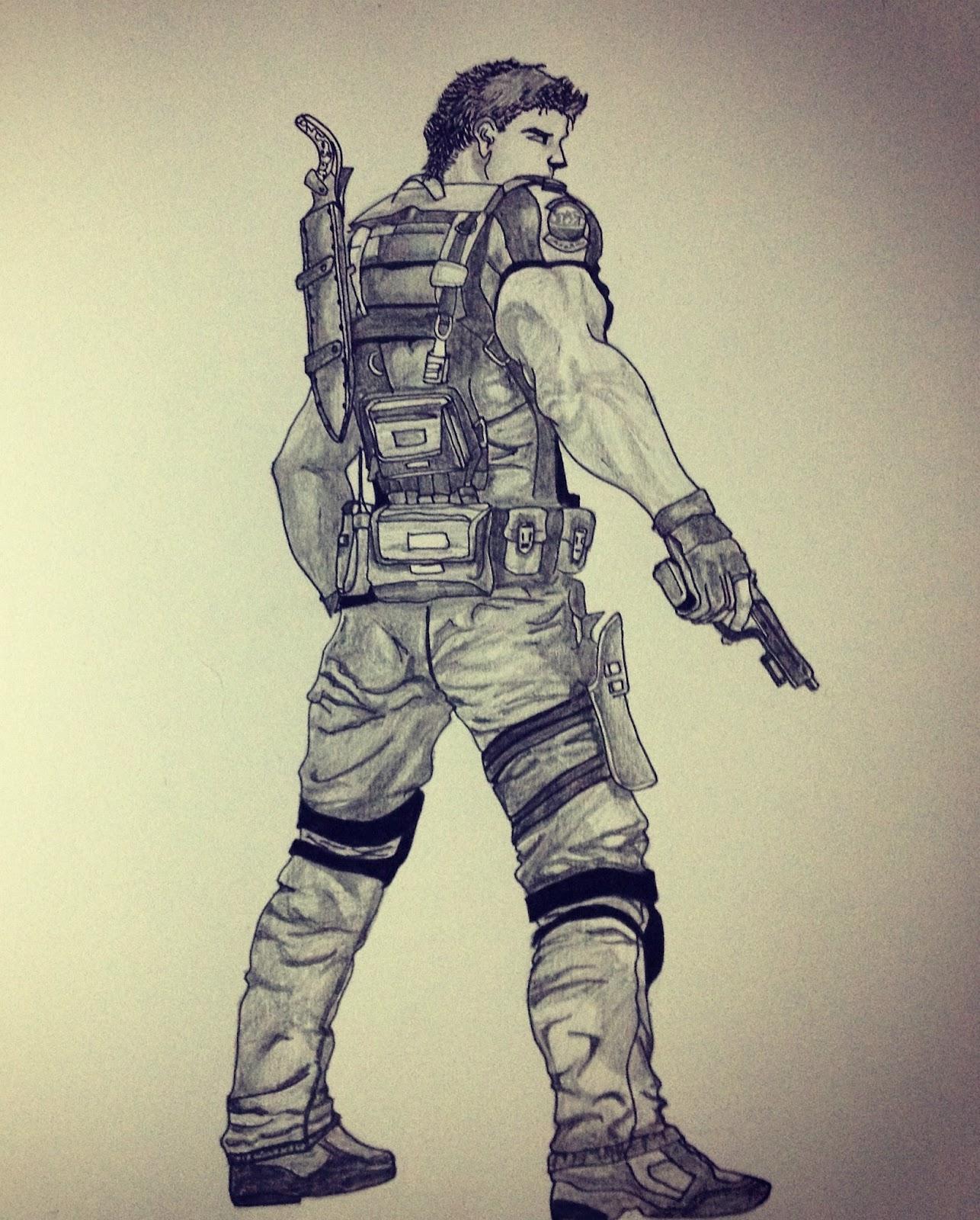 My Artwork Pulkit Khanna Resident Evil 5 Chris Redfield