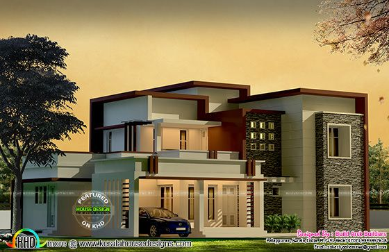 box type modern house by build arck builders kerala home
