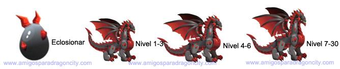 imagen del crecimiento del obsidian dragon