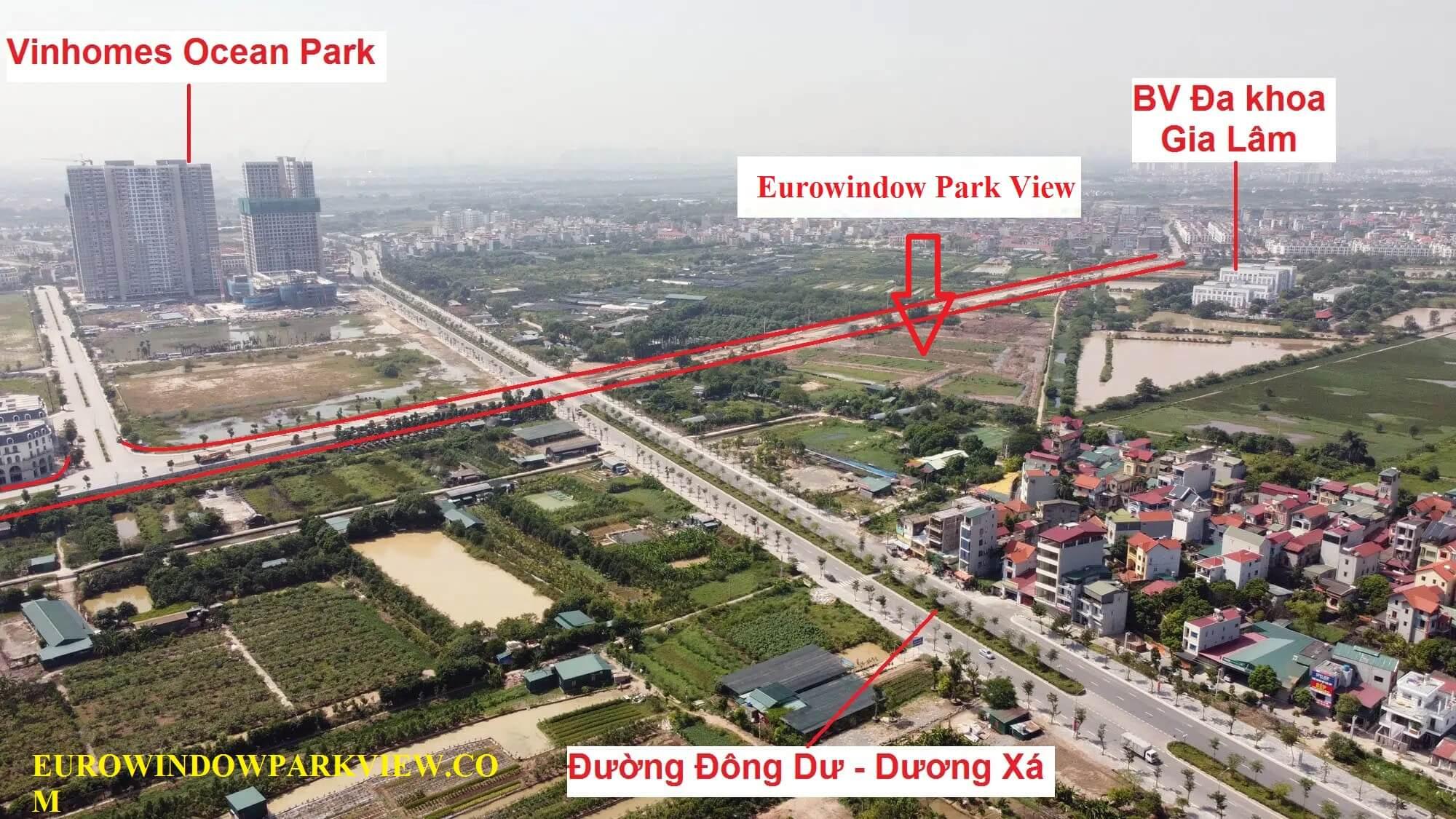 Vị trí dự án Eurowindow Twin Parks nhìn từ trên cao.