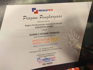 """Pemkab Jember Juara 1 di Pameran """"Indonesia Product Expo 2019"""" di Plaza Balikpapan"""