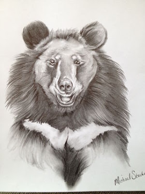The healing power of animals. Jasper the bear, drawn by an inmate in Marc Bekoff's inspirational class at the Boulder County Jail