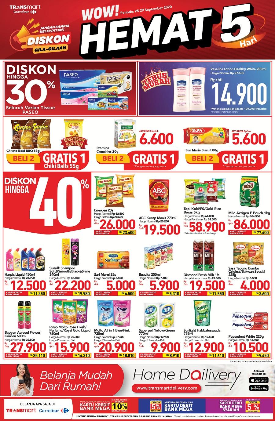 Promo Transmart Carrefour 25 September 1 Oktober 2020
