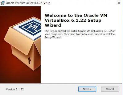 Tampilan Beranda Virtualbox