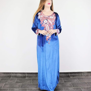 robe katifa 2021 - robe velours 2021 - gnader katifa 2020 -2021 - modeles gnaders -couture algerienne-top modelles -قنادر قطيفة - موديلات قنادر - قنادر قطيفة 2021