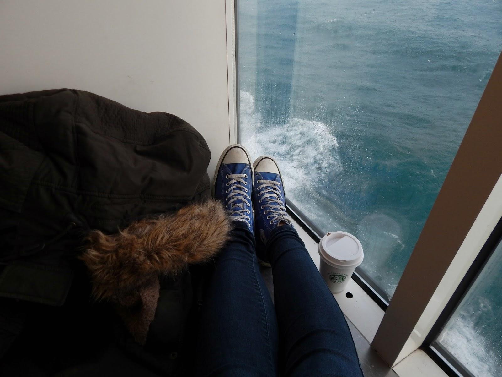 Cesta trajektem z Calais do Doveru
