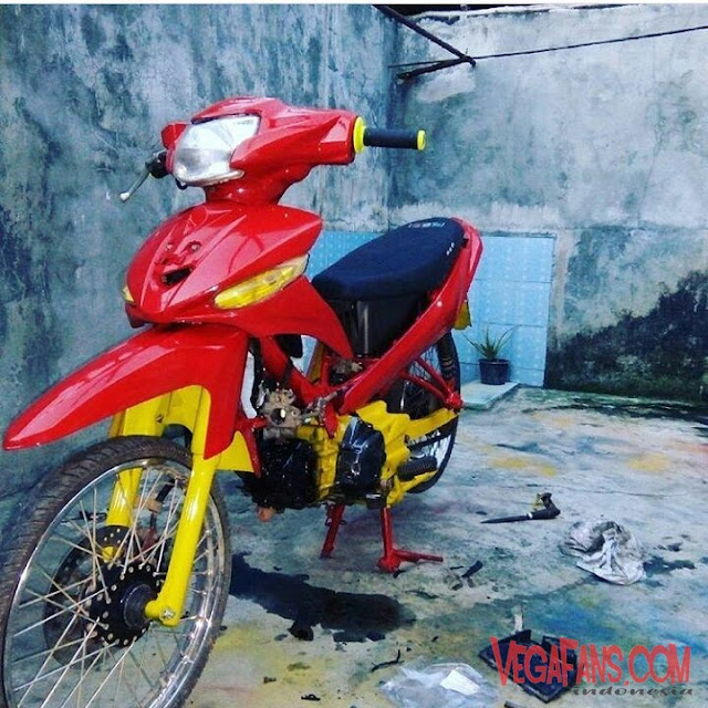Vega ZR Modif Simple Merah Kuning