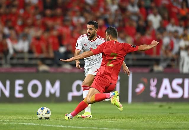 ملخص اهداف مباراة الامارات و سوريا (1-1) تصفيات كاس العالم