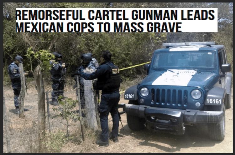 """Gatillero """"arrepentido"""" lleva a Federales a fosa clandestina donde se presume hay 70 cadaveres"""