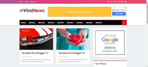 Viral News Template Blogger