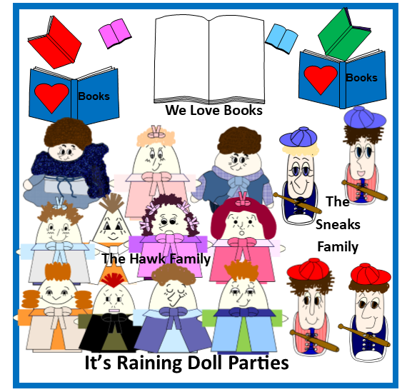 It's Raining Doll Parties Products Gallery