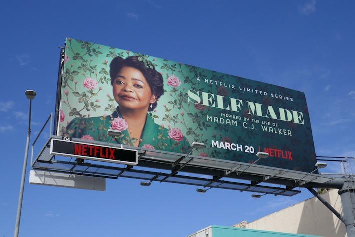 Octavia Spencer Self Made Netflix billboard