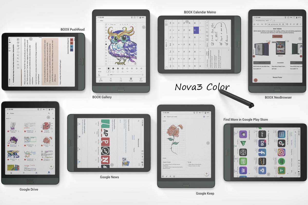 Onyx Boox Nova 3 Color – czytnik z ekranem kolorowym ekranem E Ink Kaleido Plus, Wacom i Androidem