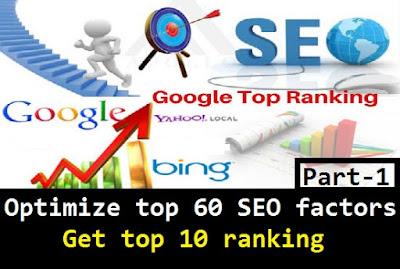 google seo ranking factors 1
