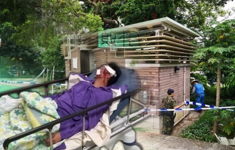 Kepala Pria Ini Berlumuran Darah Dipukul Dengan Palu Oleh Perampok Saat Masuk Toilet Umum Di Tin Shui Wai