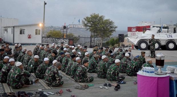 Sambut Ramadhan, Pasukan Garuda Indobatt Gelar Doa Bersama