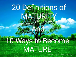 Maturity: 20 Definitions and 10 Ways to Become MATURE - Izzyaccess