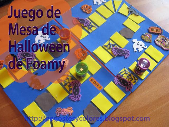 Pegostes y colores juego de mesa de halloween de foamy for Ni si ni no juego de mesa