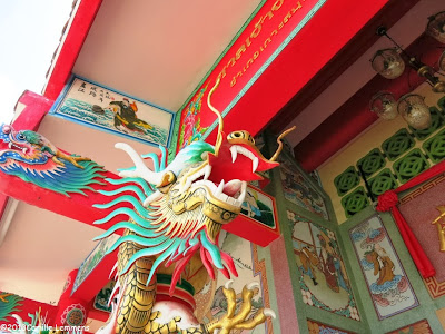 Details at the Chinese temple in Maenam