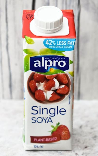 a carton of soya cream from Alpro