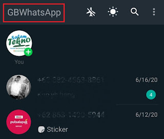 tap gbwhatsapp text