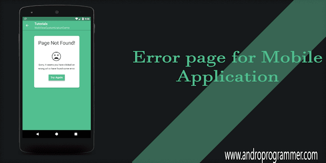 Load Custom Error Page