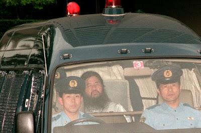 Cult leader Shoko Asahara, seen here in 1995.