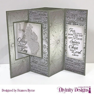 Stamp Set:  Good Tidings  Custon Dies: Lever Card With Layers, Angel Double Stitched Rectangles  Paper Collection: Winter 2014