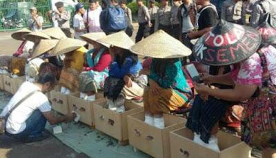 Protes Petani Aksi Cor Kaki Memakan Korban Jiwa