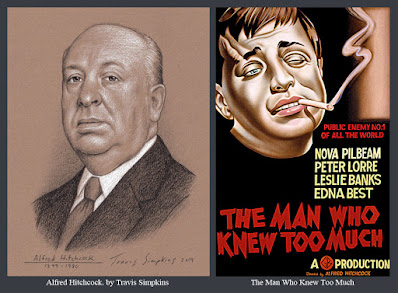 Alfred Hitchcock. The Master of Suspense. The Man Who Knew Too Much. by Travis Simpkins