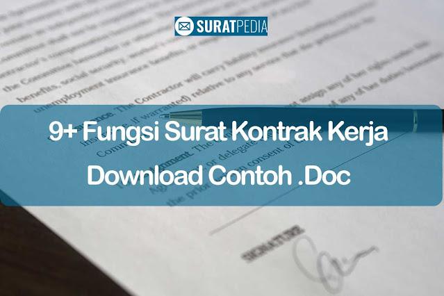 9+ Fungsi Surat Kontrak Kerja dan Download Contoh .Doc Gratis (Free)