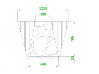 Cara menghitung volume material pondasi