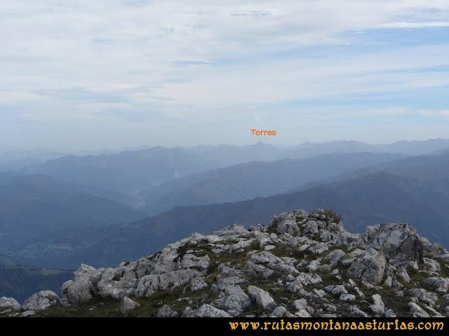 Ruta por el Aramo: Vista desde el Xistras del Pico Torres