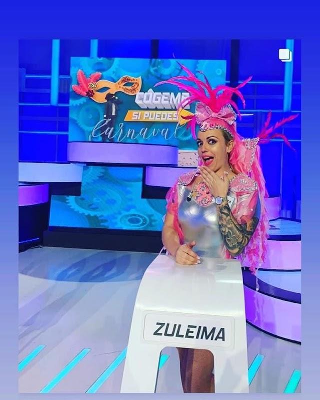 Fuerteventura.- Directora de la Comparsa Zulymar de Antigua  gana un concurso televisivo y entrega 1.000 euros de premio a La caja de la pequeña Silvia
