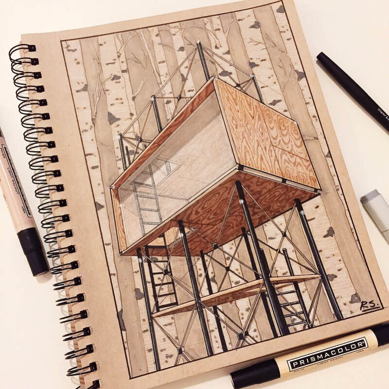 06-Concept-sketch-Reid-Schlegel-Colored-Architectural-Concept-Drawings-www-designstack-co