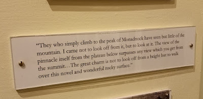 Quote from Henry David Thoreau seen at the Monadnock Visitor Center