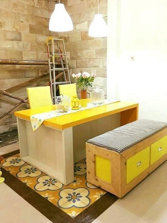 desain inspiratif dekorasi rumah bernuansa kuning