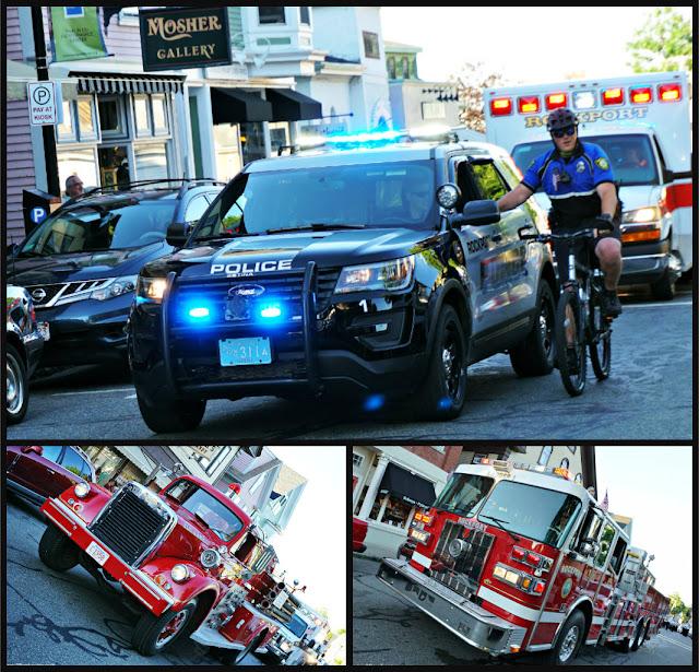 Policía, Bomberos y Ambulancia en el Desfile del 4 de Julio en Rockport
