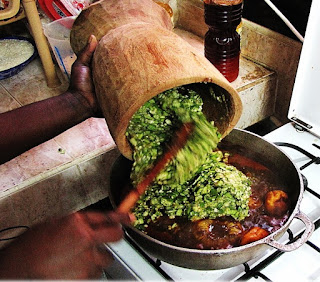 Cameroon Beef with Okra Sauce Recipe