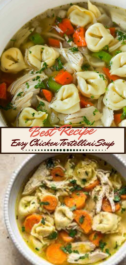 Easy Chicken Tortellini Soup #dinnerrecipe #food #amazingrecipe #easyrecipe